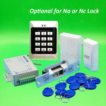 Buy DIY Full Keypad Rfid Door Access control system Yli YS130 NC Electric Strike Lock +Power supply+exit button+keyfobs for $35.90 in AliExpress store