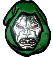 Dr. Doom Face Avengers Marvel Comic Fantastic 4 Villain Embroidered Uniform Movie Iron On Patch Custome TRANSFER MOTIF APPLIQUE(China)
