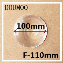 1 pcs Round Optical PMMA Plastic Car Parking Wide Angle Fresnel Lens Large Diameter 100 mm Focal Length -110mm Minifier Lens(China)