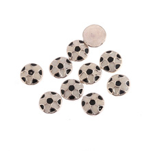 10pcs 8x8mm round soccer ball football float locket charms for glass locket (B1046)
