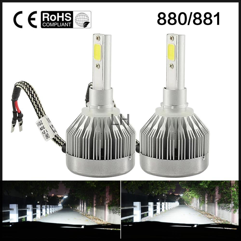 Pair 60W 6000LM  LED Headlight Kit 880 881 6000K White 3000K Yellow HID Bulbs Headlamp Fog light <br><br>Aliexpress