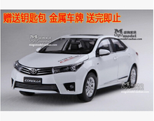 NEW TOYOTA COROLLA 2014 1:18 car model alloy 11th Generation Classic cars Japan diecast boy gift collection hot sale AE86