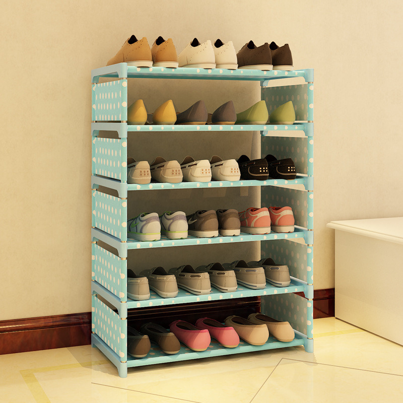 5 Tier  Non-woven shoe rack shelves simple living room home decorations debris storage<br>
