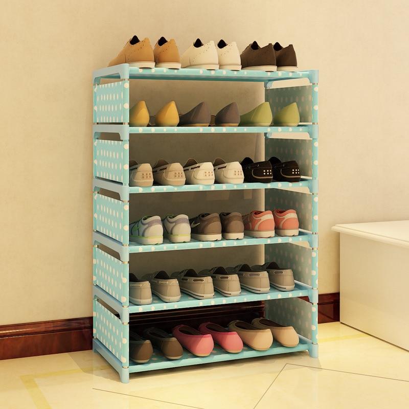 5 Tier  Shoe Rack Storage  Shelves Simple living Room Home Decorations Debris Organizer Cabinet<br>
