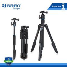 BENRO IT25 Tripod Portable Camera Tripods Reflexed Removerble Traveling Monopod Carrying Bag Max Loading 6kg DHL Free Shipping(China)