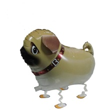 10pcs Walking Pet Balloons PUG DOG Walking Animal Foil Balloons Party Decoration Supplies kids Toys Globos Balony