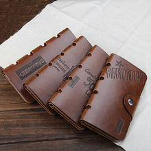 Vintage Cowboy Hollow Out Long Wallets Men 4 Pictures Casual Hasp Leather Organizer Wallets Male Card Holder Quality Guarantee