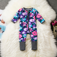 2017 New Baby Autumn Baby Girl Boy Cotton Long Sleeve Coveralls O-neck Baby Romper Children's Clothes Pajamas Baby Jumpsuits
