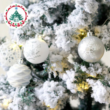 6cm Christmas ball electroplating Hanging xmas decorations Ornament silver white painted - InHoo Decro Store store