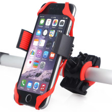 Universal Bike Bicycle Motorcycle Handlebar Mount Holder Phone Holder With Silicone Support Band For Iphone Samsung XIAOMI GPS(China)