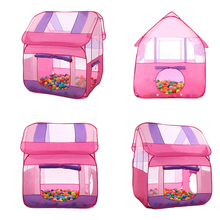 Children's day Gift New Arrive Pink Cartoon Play Game House High Quality Kids Child Play Tent Cute Baby Breathable Toy Tents