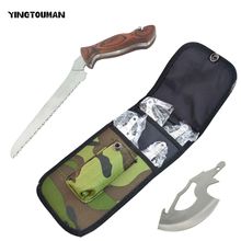 YINGTOUMAN 4 In 1 Outdoor Stainless Multi Folding Camping Saw Knife + Axe + Handsaw Survival Saw Hunting Hatchet Survival Axe Ax