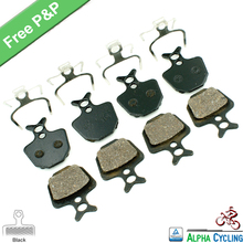 Bicycle Disc Brake Pads for FORMULA ORO K18 ORO K24 ORO PURO Disc Brake, for GIANT DA7 Disc Brake, 4 Pairs/ORD, Black Resin