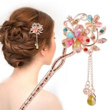 Hair Sticks Top Selling Luxury Hair Jewelry Discount Hair Accessories Women Wedding Promotion Gem Butterfly Flower