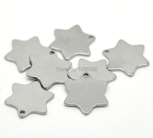 "100Pcs Silver Tone Stainless Steel Hexagon Blank Stamping Tags Pendants Charms Jewelry Making Component 20x18mm( 6/8""x 6/8"")(China)"