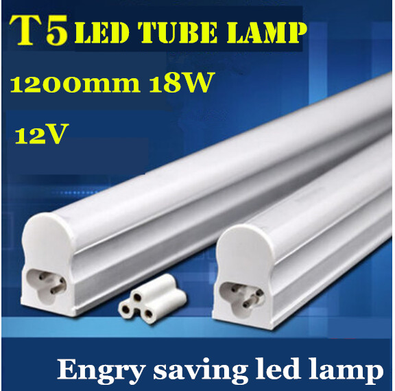 Free shipping 30pcs/lot High quality 12V 24V led tube lamp 2835 smd t5 led solar tube lighting with milky white or clear cover(China)