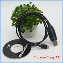 BEST Original BAOFENG USB Programming Cable For BAOFENG BF-T1 UHF 400-470mhz mini walkie talkie radio(China)