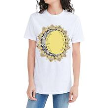 YEASERO H922 Brand Fashion Women Casual T-Shirt Short Sleeve White O-Neck Tee Sunflower And Letter Print Harajuku T Shirt