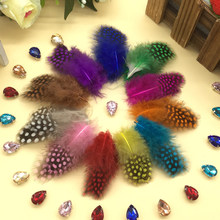 100pcs 3-7cm dyed color mix real natural pearl chicken pheasnt plumage feathers for mask jewelry craft dress making bulk sale(China)