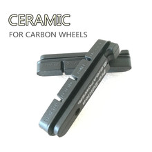 2 Pair Carbon Brake Pads Carbon Wheel Pads Ceramic Material Fit for Shimano SRAM and CHAMPION Carbon Rims Used Top Quality(China)