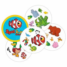 high quality junior animals spot it cards game for kids party board game