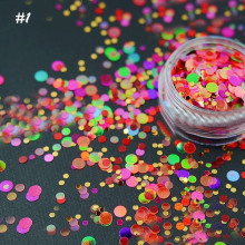 1 Box Ultrathin Nail Glitter Set Sequins Candy Color Star Heart Nail Art Decoration 1mm-3mm HOT Selling