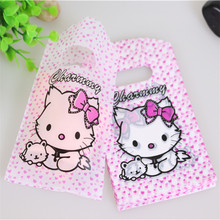 Hot Sale New Design Wholesale 50pcs/lot 9*15cm Good Quality Pink Cute Small Kitty Pouches Mini Gift Bags