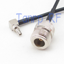 1PC 6in CRC9 male plug right angle to N female jack RF connector adapter 15CM Pigtail coaxial jumper cable RG174 extension cord