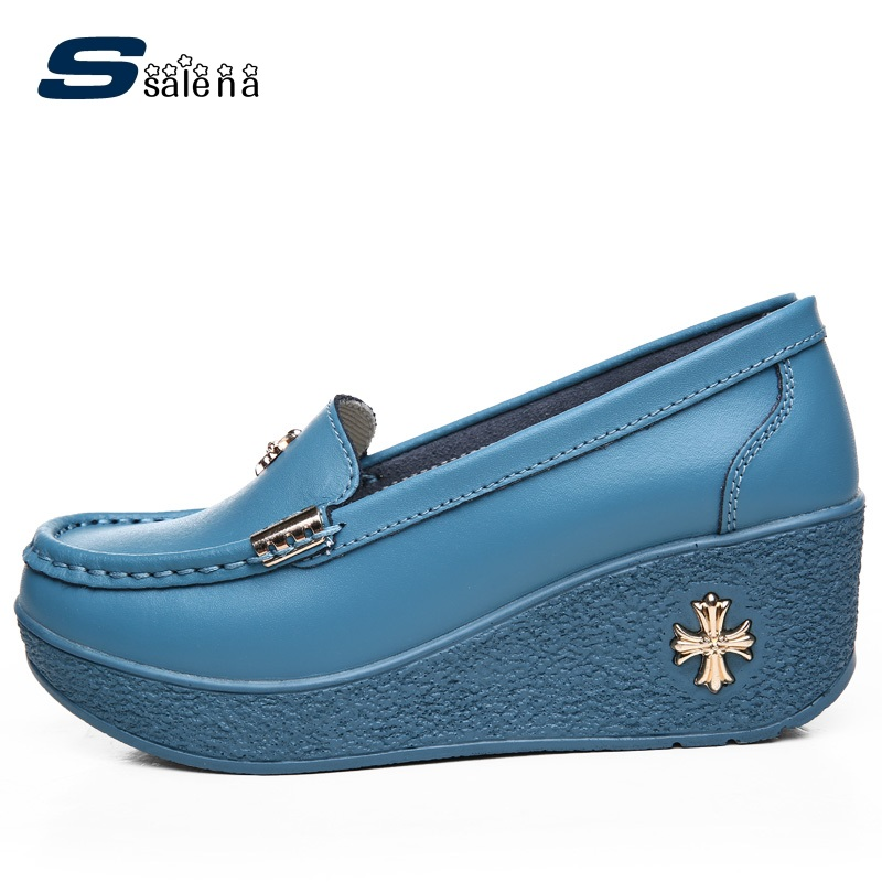 New Women Casual Shoes Female Fashion Outdoor Platform Breathable Nurse Shoes #B2421<br>
