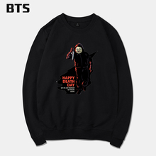 BTS Happy Death Day Tracksuit Loose Hoodie Sweatshirt Casual Streetwear Harajuku Hipster Brand Fashion Oversized Hoodie Print(China)