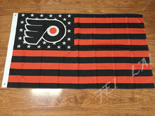 NHL Philadelphia Flyers star and stripe flag 3ftx5ft Banner 100D Polyester Flag metal Grommets(China)