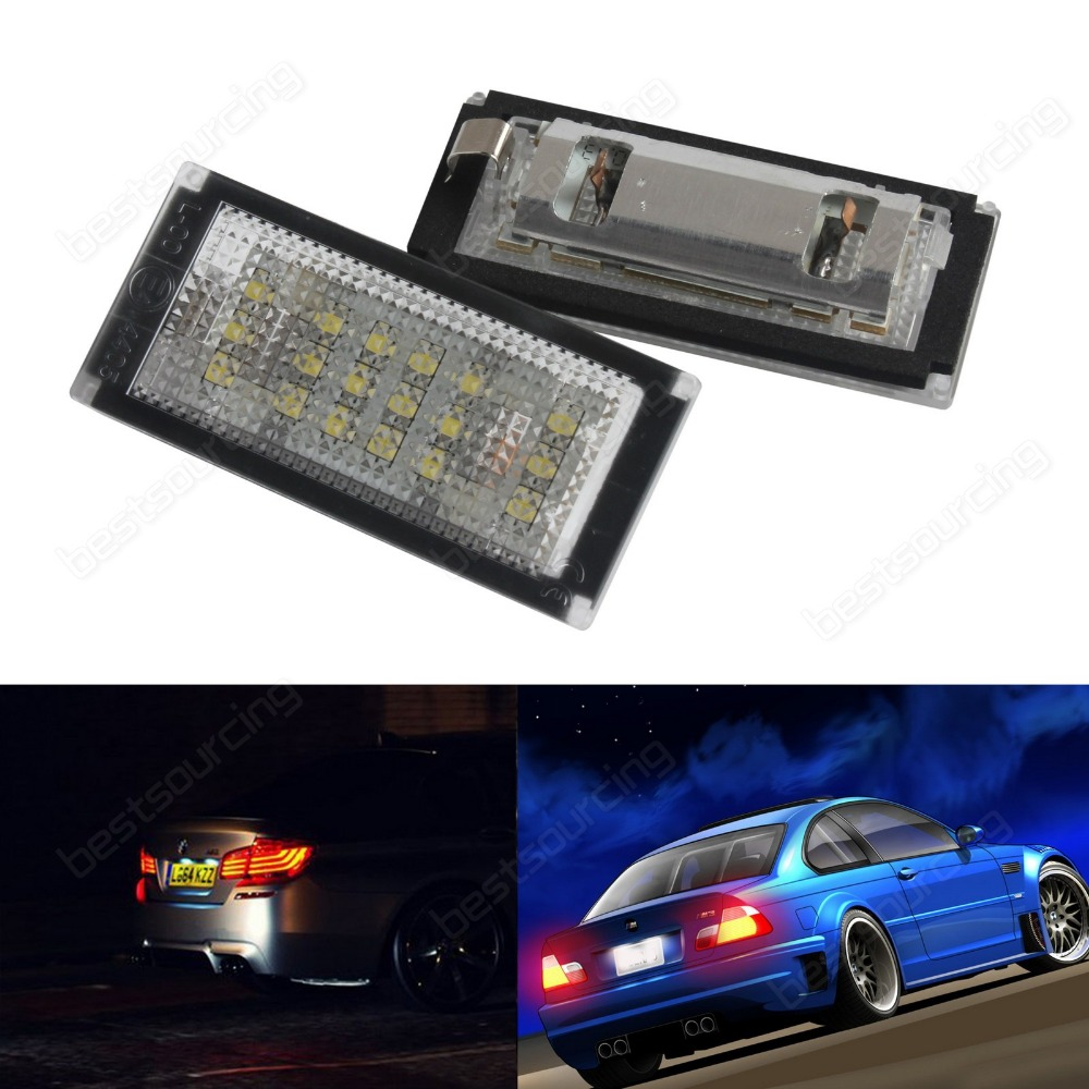 3series E46 Coupe Convertible M3 Canbus LED License Number Plate Light 04-06(ca249)<br>