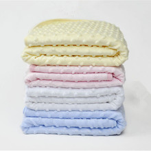 75cm*100cm Fleece Baby Blanket Newborn Baby Swaddle Wrap Soft Winter Baby Bedding Receiving Blanket Manta Bebes Sleeping Bag BL2(China)