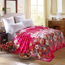 Red sea of flowers, marry Available Sleep Blanket Sofa / Bed / Airplane Travel Plaids bed sheet Bedspreads Bedding