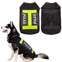 Large Dog Police Safety Save Life Jacket Reflective Vest Pet Dog Preserver Coat Clothes Pets Supplies TB Sale(China)