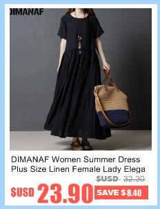 DIMANAF Women Summer Dress Big Size Cotton Linen Casual Soft Style Black Polka Dot Oversized Loose Female Sundress Clothing 2018 2