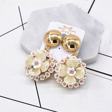 XIAO YOUNG Statement Flower Drop Earrings Jewelry For Women Fashion Vintage Baroque Wedding Drop Earrings Gift(China)
