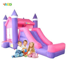 YARD Princess Inflatable Jumping Bouncy Castle Jumper Moonwalk for Residential Kids Birthday Party Outdoor Trampoline Mattress