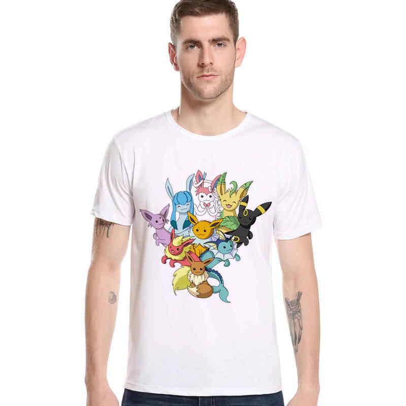 新しいブランドファッションメンズtシャツポケモンピカチュウ