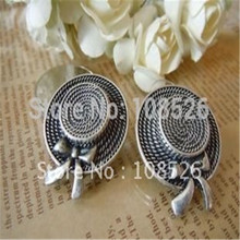 Free shipping New design restores ancient ways hat ear nail bronze ancient silver color
