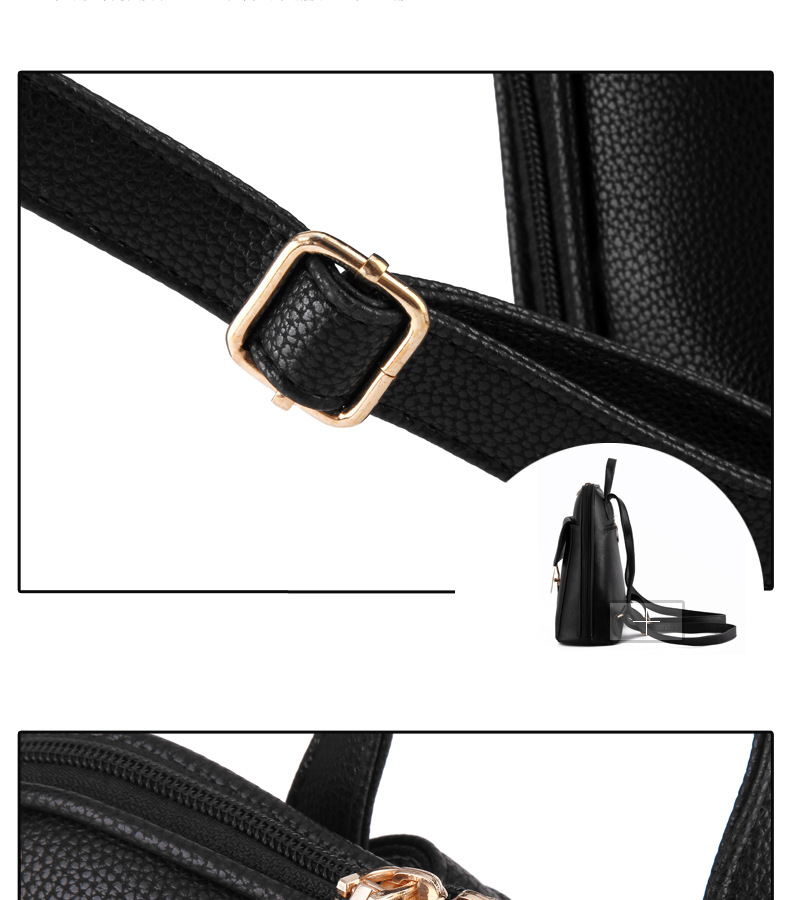 Minimalist Gold Lock Back Pack*
