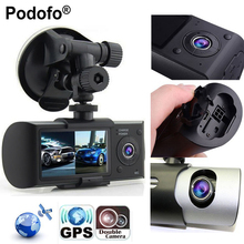 "Podofo New Dash Camera 2.7"" Vehicle Car DVR Camera Video Recorder Dash Cam G-Sensor GPS Dual Lens Camera X3000 R300 Car DVRs(Hong Kong)"