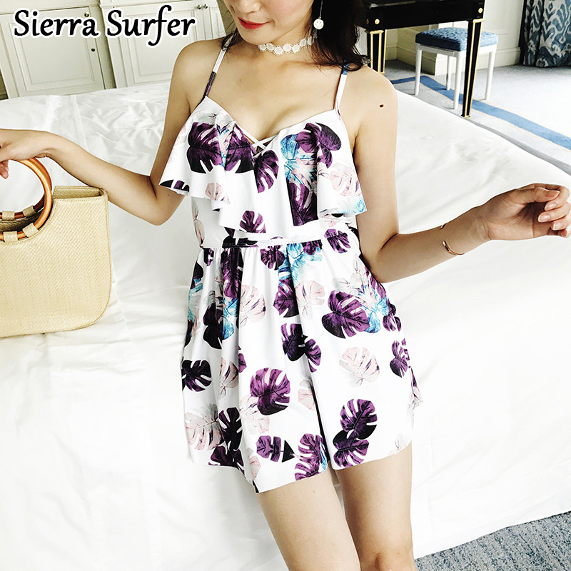 2018 Swimwear Female One Piece Floral Korean Breasts Maio One Piece Swimsuit Plus Size Polyester Bathing Clothes Women Swimwear<br>