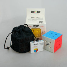 3*3*3 Smooth Speed No stickers Rubik Cube Puzzle Brain Teaser Magic Cube Toys with Cube Bag