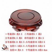 Solid wood carved wooden vase of Buddha flowerpot tank round base household act the role ofing is tasted(China)