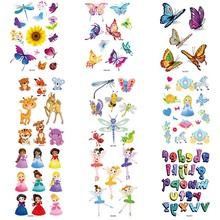 1 Sheet  Cartoon Waterproof Temporary Tattoo Stickers Body Art Flash Glitter Butterfly Animal Tattoo Stickers
