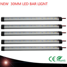 NEW SMD5630 12V Under Cabinet Light Kitchen Light LED bar light 30mm LEDs Hard Rigid Bar with Aluminium shell(China)