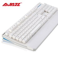 Ajazz AK20 mechanical feel 104 keys game keyboard white backlit With detachable hand care computer notebook  digital keyboard