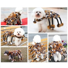 Petalk Winter Novelty Spider Cat Dog Costumes Halloween Pet Dog Suits For Teddy Chihuahua Yorksire S M L(China)