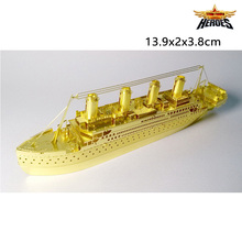 3D Metal Puzzles Titanic Gold Model Ships 3D Metal Model NANO Puzzles New Styles Chinses Metal Earth DIY Creative Gifts Lct_004